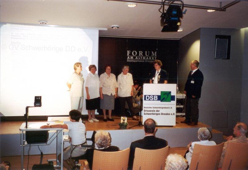 Feier 90. Jahrestag der Schwerhörigenbewegung in Dresden