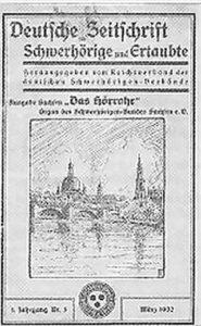 Titelblatt der Zeitschrift Das Höhrrohr vom März 1932